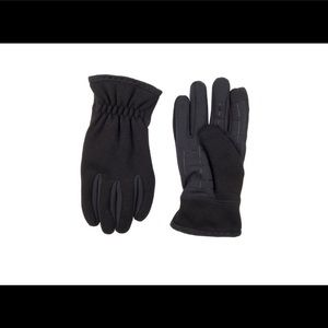 Mens Levi's Mixed Media Touchscreen Stretch Gloves